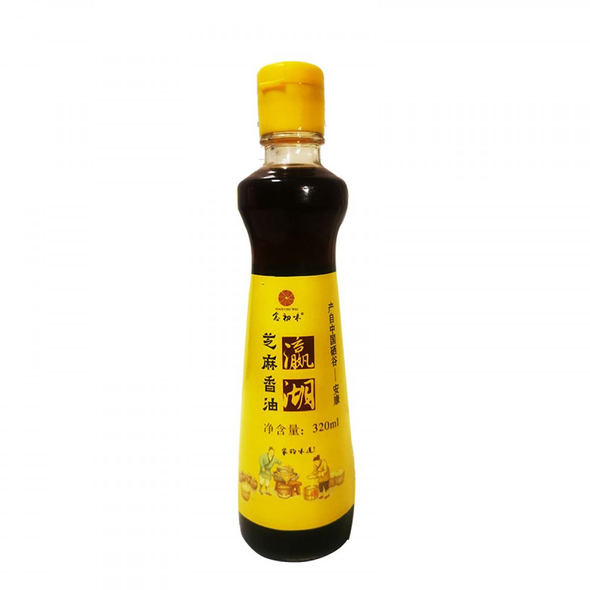 念初味 瀛湖芝麻香油320ml