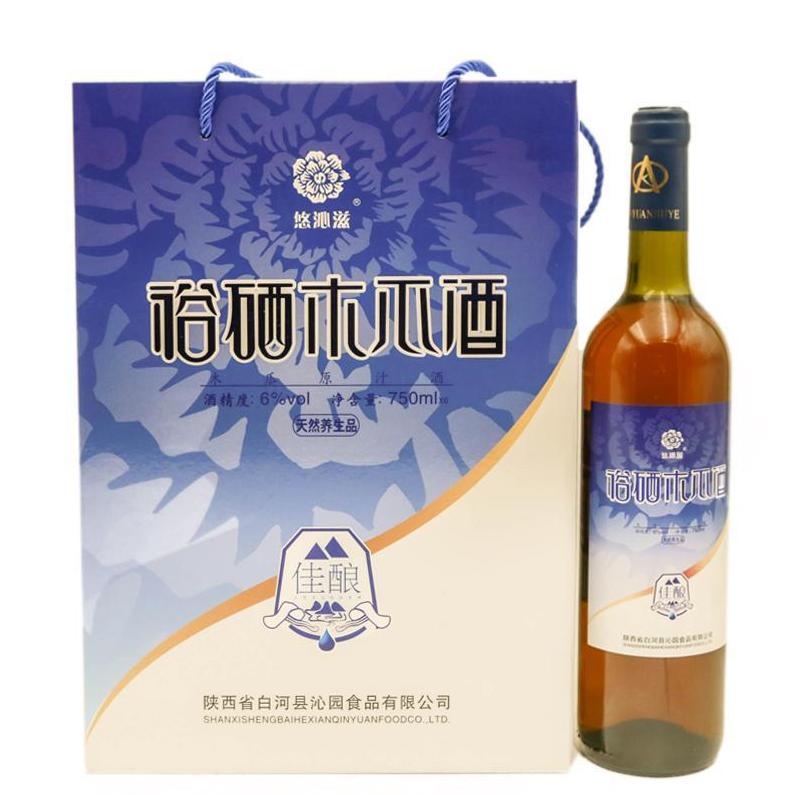 安康特产 白河木瓜酒6° 果酒750ml*6瓶/箱