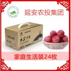 苹果延安农投延安苹果家庭生活装24枚新鲜水果红富士