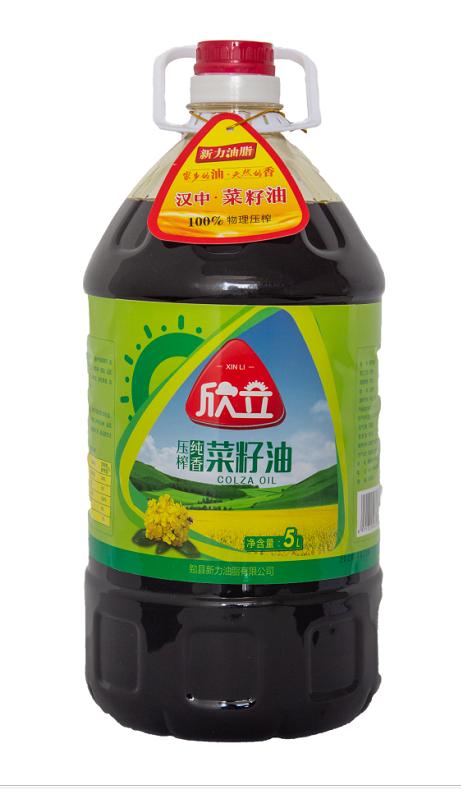 【汉中扶贫馆】勉县 新力 欣立压榨纯香菜籽油5L/桶