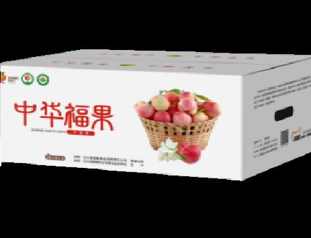 【渭南扶贫馆】白水县盛隆白水苹果中华福果-幸福果24枚5.6KG