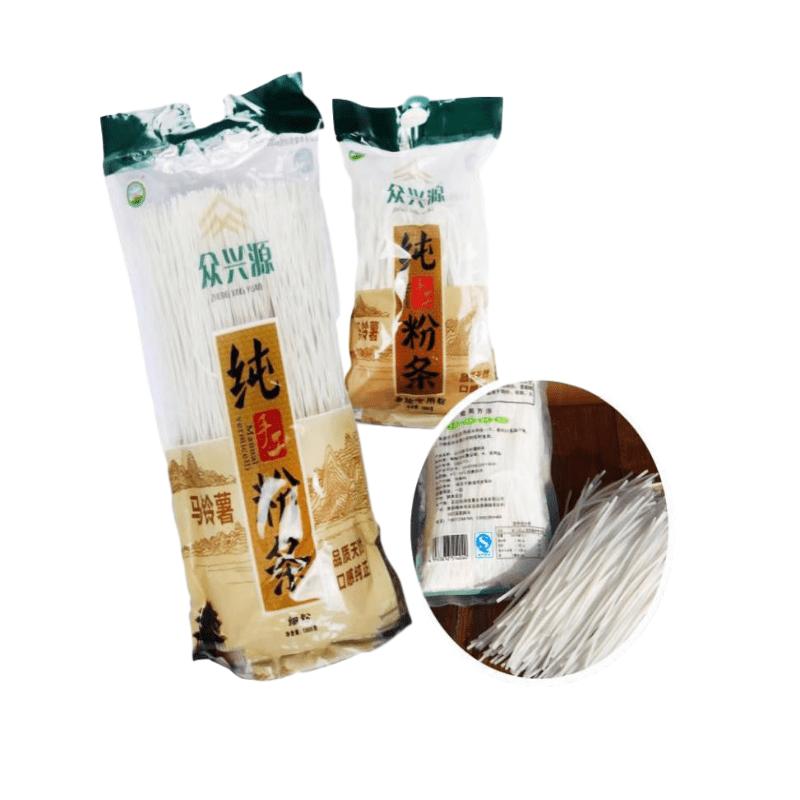 【榆林扶贫馆】定边县 众兴源 手工粉条细粉1kg/袋