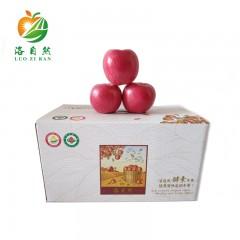 【延安扶贫馆】洛川县 洛自然 苹果(不套袋)果径大于80mm 10斤礼盒装