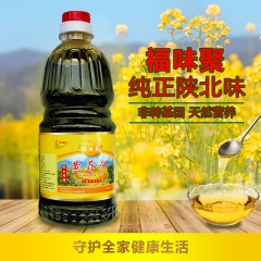 【榆林扶贫馆】定边县 喜泳粮油 福味聚小磨黄芥油1.8L/瓶