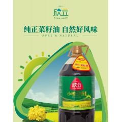 【汉中扶贫馆】勉县 新力 欣立小榨炒香菜籽油5L/桶