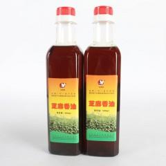 【汉中扶贫馆】洋县 朱鹮湖 芝麻香油500ml*2瓶/提