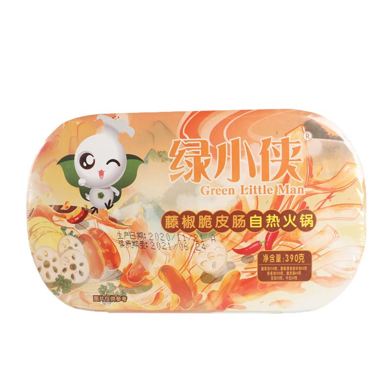 【汉中扶贫馆】汉台区 仁乡源 绿小侠藤椒脆皮肠390克/盒