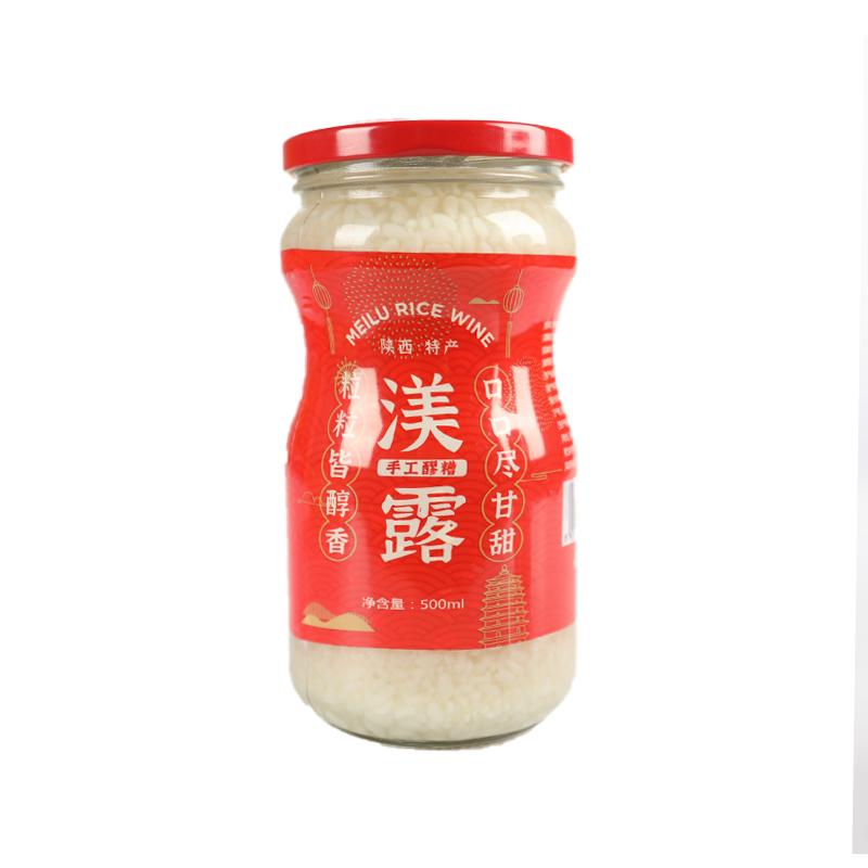 【西安扶贫馆】鄠邑区 天宁食品 渼露牌醪糟(普惠装)500g*12瓶(箱) 米酒