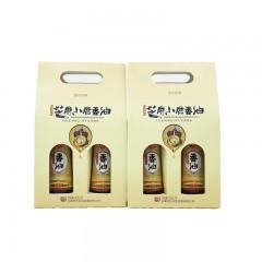 【安康扶贫馆】健民芝麻小磨香油礼盒装320ml*2瓶